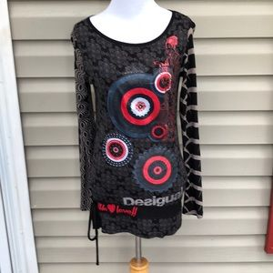 Desigual  women's long sleeve tunic top